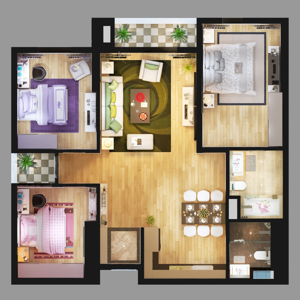 thiết kế căn hộ Gold Mark City