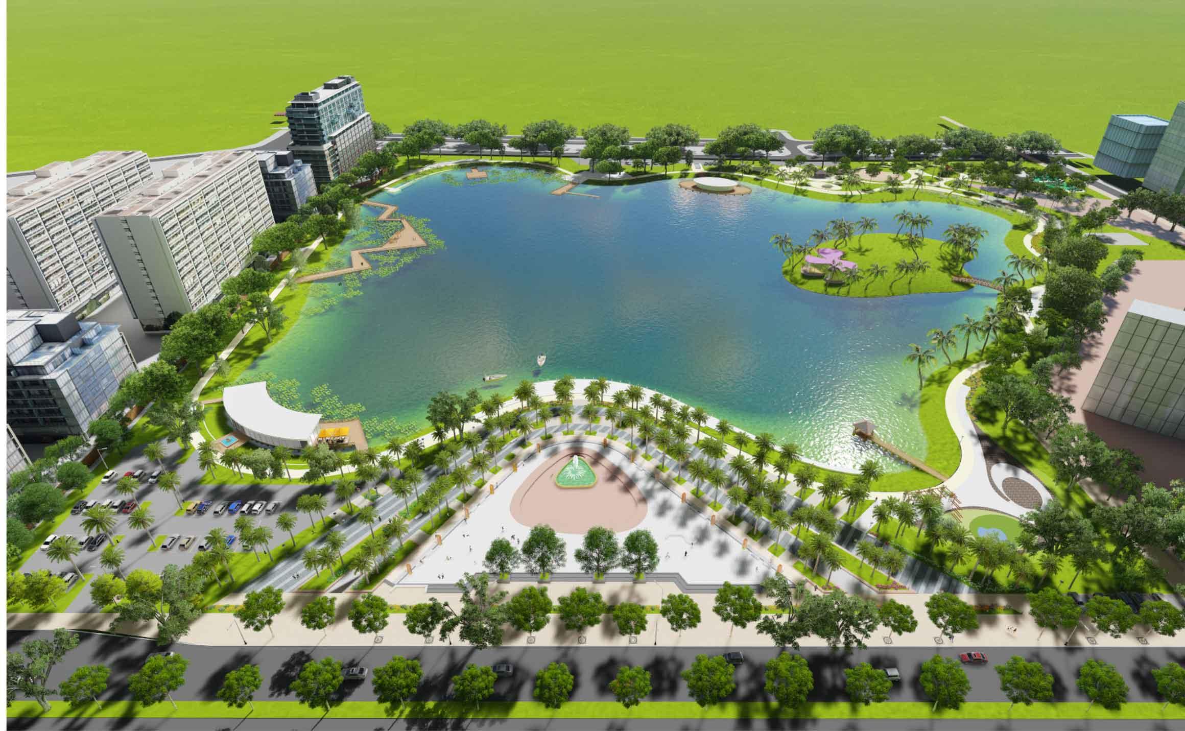 Phối cảnh công viên Phùng Khoang - An Bình City
