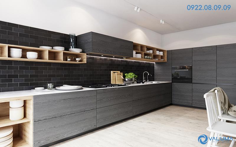Phòng bếp đẹp cho thiết kế nội thất căn hộ chung cư